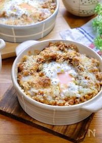 『ミンチと卵の焼きキーマカレー』