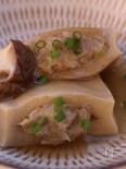 高野豆腐の鶏ひき肉はさみ