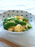 ピーマンとふんわり卵のマヨ炒め