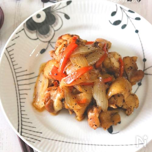 鶏肉のはちみつナンプラー炒め。