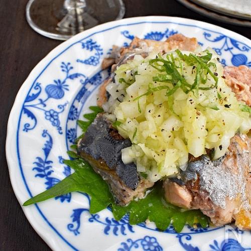 【即席簡単】サバ缶と玉ねぎのサラダ