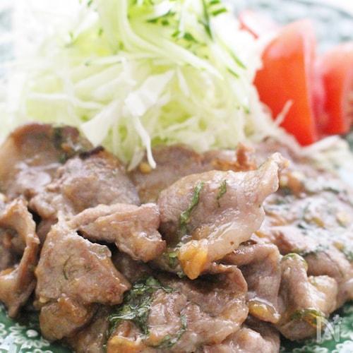 豚肉の梅味噌炒め