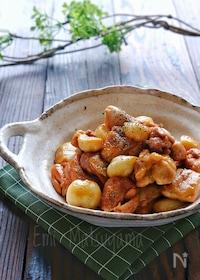 『【らくレピ】鶏肉とゴロゴロにんにくの酢っぱり煮』