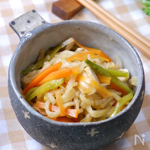 3ステップ♪『レンジで簡単☆切干大根の煮物』作り置きにも◎