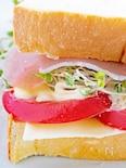 ヘルシー 野菜のサンドイッチ