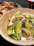 野菜たっぷりクリチサラダ☆バルサミコソース☆