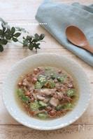 ダイエットに。おくらとなめこの中華風スープ