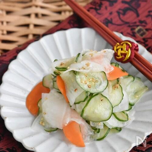 きゅうりと大根の中華風酢の物【作り置き】