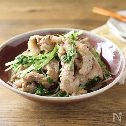 豚肉と水菜の煮浸し