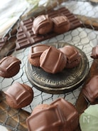 板チョコそのまんま載せちゃった♪まんまるココアクッキー