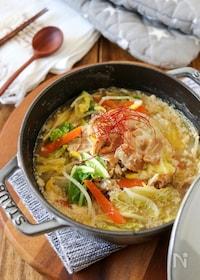 『簡単*豚バラと白菜の豆乳味噌スープ』
