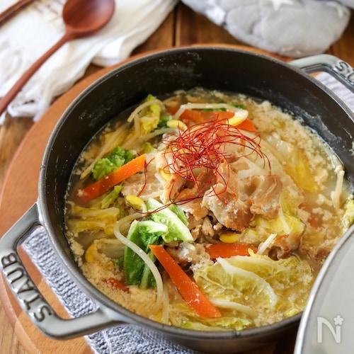簡単*豚バラと白菜の豆乳味噌スープ