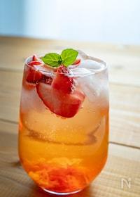 『美酢(ミチョ)風♡すぐに飲めるいちごのサワードリンク』