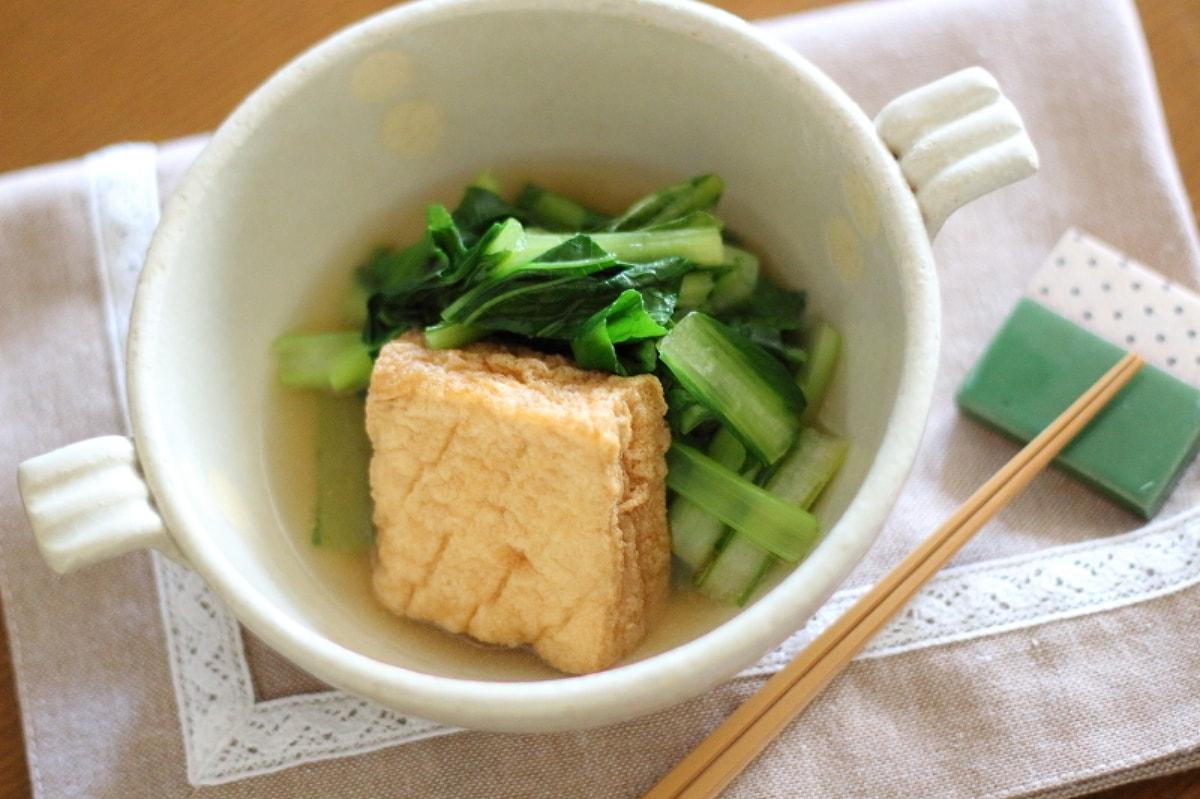 厚揚げと小松菜の中華風