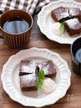 【簡単おやつ】レンジで簡単!豆腐入りブラウニー風ケーキ