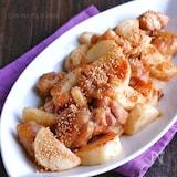 長芋と鶏肉のごま味噌ぽん酢炒め