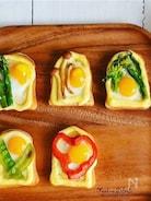 ドテマヨトースト☆ミニ♪うずら卵と焼き野菜