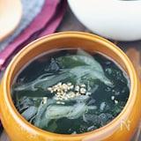 簡単!玉ねぎとわかめの中華スープ
