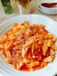 ご飯にかけて召し上がれ『鶏むね肉とえのき茸のケチャップ炒め』
