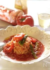 『トマトのカッペリーニ、昆布出汁仕立て』