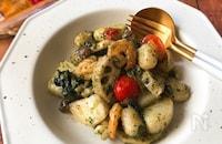 『具だくさん!』エビと根菜のバジルポテトニョッキ