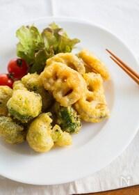 『冬野菜のチーズカレーフリッター』