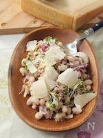 白インゲン豆とパルミジャーノ・レッジャーノ、ツナのサラダ