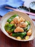 【鶏肉と丸ごとピーマンのにんにく旨煮】栄養満点!