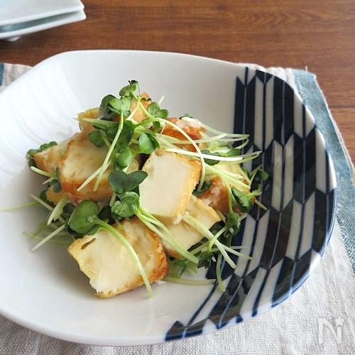 トースターで簡単和総菜◎厚揚げと貝割れ菜のみぞれ和え