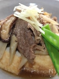 厚揚げで作った、キノコいっぱい肉豆腐