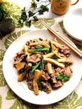 豚肉と高野豆腐のオイスターソース炒め
