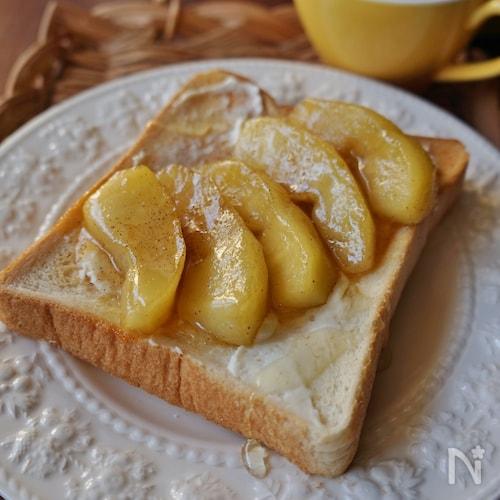 りんごのシナモンバタートースト
