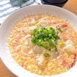 玉子豆腐とカニカマ使って簡単うまうまあんかけ冬瓜