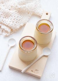 『【簡単おやつ】豆乳のメイプルプリン』