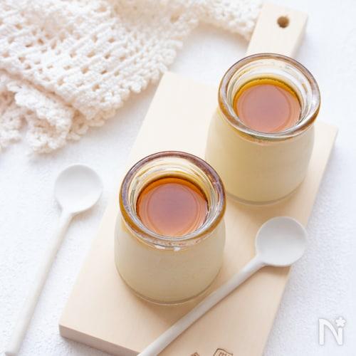 【簡単おやつ】豆乳のメイプルプリン