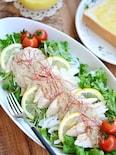 蒸し鶏の昆布ごまドレサラダ