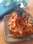 調味料一律小さじ2‼️和風でさっぱり♡大根と人参のサラダ