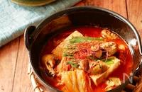 牡蠣と豆腐のスンドゥブ風