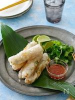 えびとパクチーのベトナム風揚げ春巻き