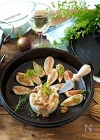 ハニーナッツ焼きカマンベールと焼きイチジク【おつまみ】