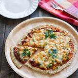 材料3つ!簡単ノンオイルオートミールピザ♪卵小麦粉不使用