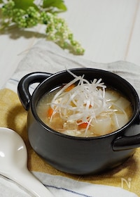 『具だくさん*かぶとささみの中華スープ』