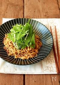 『水菜のピリ辛和え麺』