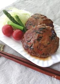 『残ったひじき煮をリメイク☆ふわふわ豆腐入りひじきのハンバーグ』