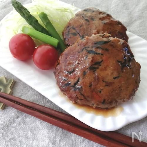 残ったひじき煮をリメイク☆ふわふわ豆腐入りひじきのハンバーグ