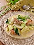 白菜と鶏肉の和風クリーム煮
