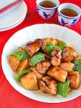バルサミコ酢鶏(鶏むね肉の酢豚風)