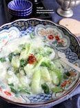 青梗菜のふわふわ白身とじ