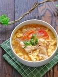 柔らか鶏肉とかき玉トマトのとろみ旨スープ