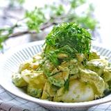 【ラクレピ】アボカドとゆで卵の和風しそマヨサラダ